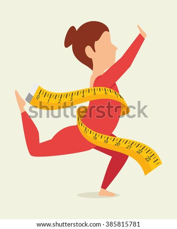 fitness lifestyle  design  - stock vector
