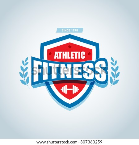 Fitness logo template. Gym club logotype. Sport Fitness club creative concept.  - stock vector