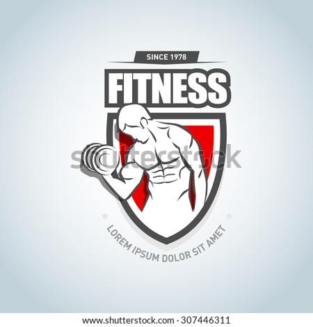 fitness logo template gym club logotype stock vector