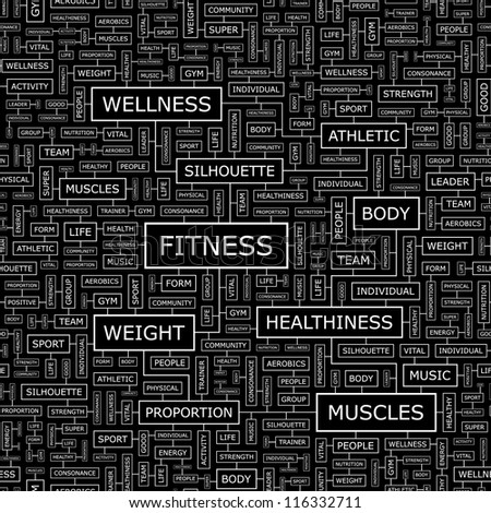Fitness. Seamless vector pattern.