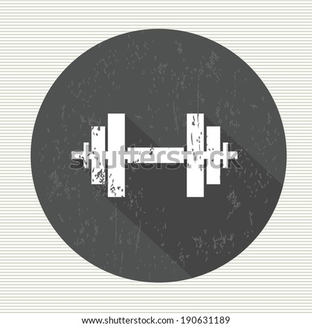 Fitness sign, vector - stock vector