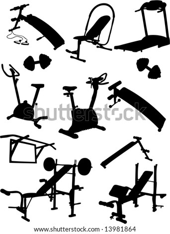 Fitness Vector Icons - stock vector