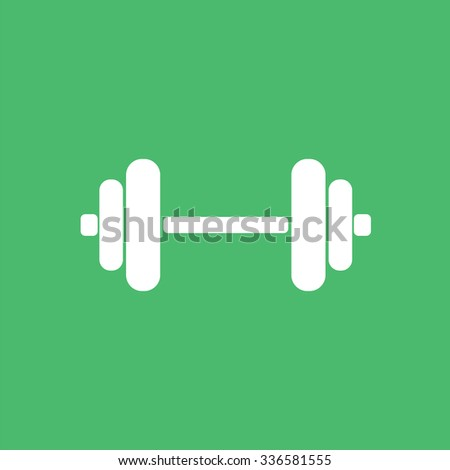 Fitness weights icon. Lifting icon. - stock vector