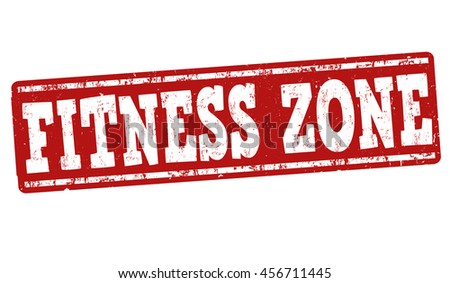 Fitness zone grunge rubber stamp on white background, vector illustration
