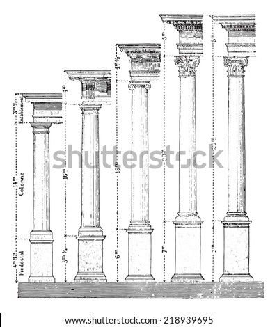 Ionic order stock photos images pictures shutterstock for 5 orders of architecture