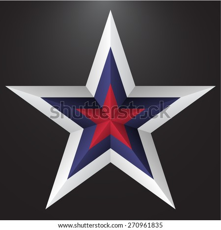 Five pointed star - stock vector