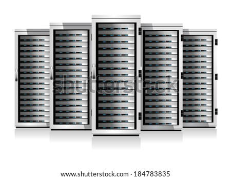 Five Serves - Information technology conceptual image - stock vector