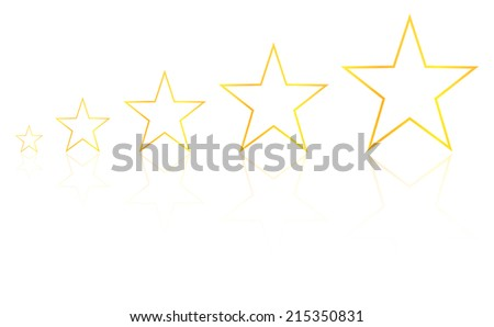Five Star Product Quality Rating With Reflection - stock vector
