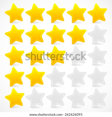 Five Star Rating - stock vector