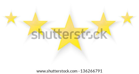 Five Stars Quality - stock vector