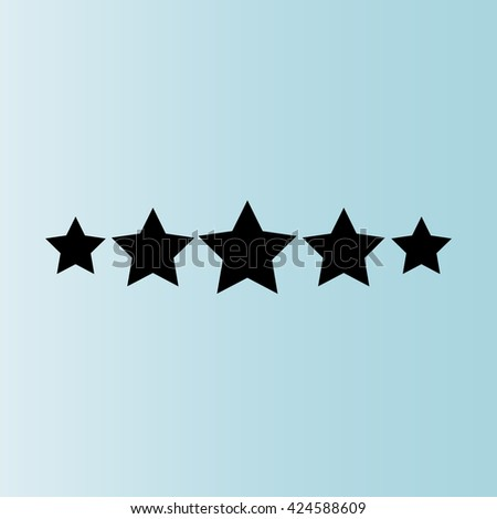 Five stars. Vector icon - stock vector