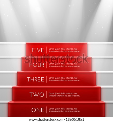 Five steps, success, eps 10 - stock vector