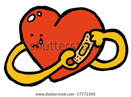 fix your own broken heart - stock vector