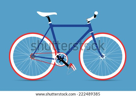 FIXED GEAR BICYCLE - stock vector