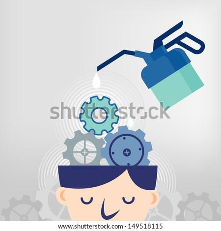 fixing ideas - stock vector