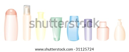 flacons and bottles - stock vector