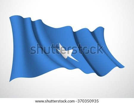 flag Abstract, flag vector, festive flag, banner with flag, flag beautiful fluttering in the wind, flag Federal Republic of Somalia, flag isolated, flag on a white background, flag design flag 3d flag - stock vector