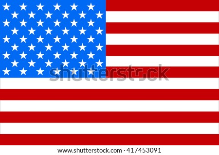 Flag America, memorial day, isolated, vector  illustration - stock vector