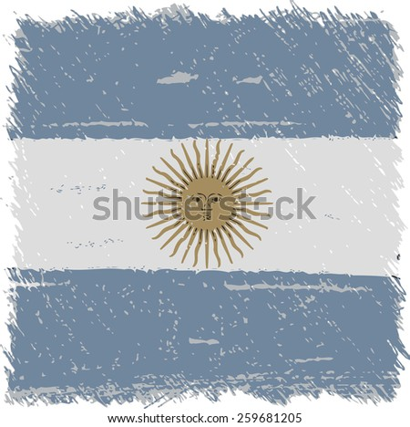 Flag Argentina square shape - stock vector