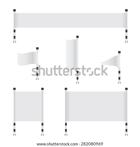 Flag banner collection set - stock vector