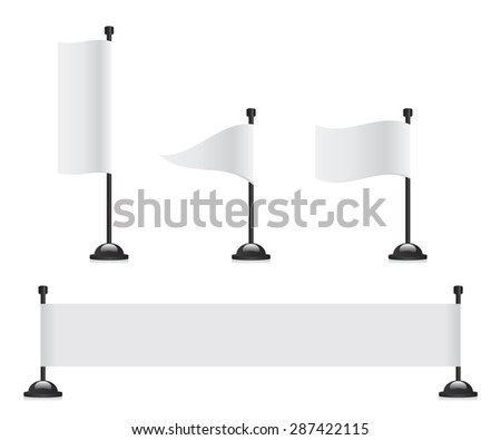 Flag banner set - stock vector