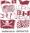 Flag Collection - stock vector