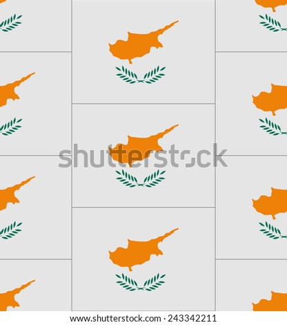 Flag Cyprus texture vector illustration  - stock vector