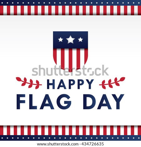 Flag Day background template. Vector illustration. - stock vector