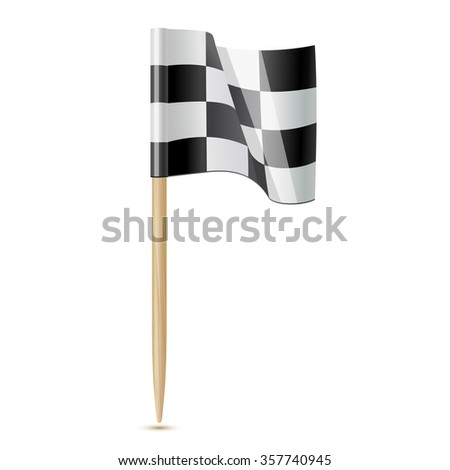 Flag End of the race. Flag toothpick 10eps - stock vector