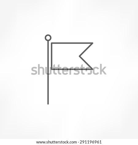 flag icon - stock vector
