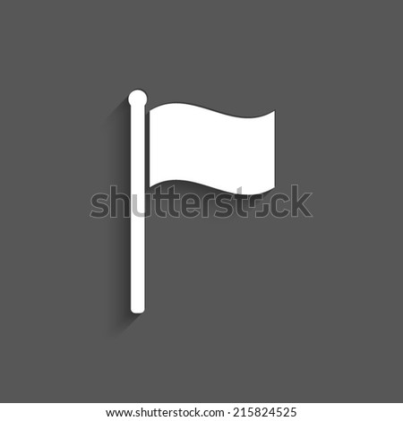 flag icon on a grey background - stock vector