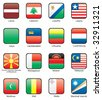 Flag icon set (part 7) Latvia, Lebanon, Lesotho, Liberia, Libya, Liechtenstein, Lithuania, Luxemburg, Macedonia, Madagascar, Malawi, Malaysia, Maldives, Mali, Malta, Marshall Islands - stock photo