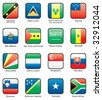 Flag icon set (part 10) Saint Lucia,  Samoa, San Marino, Sao Tome and Principe,  Saudi Arabia, Senegal, Seychelles, Sierra Leone,  Singapore, Slovakia, Qatar, Solomon islands, Somalia, South Africa - stock photo