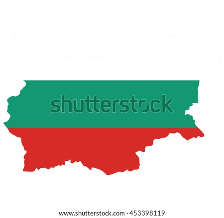 flag map of  Bulgaria