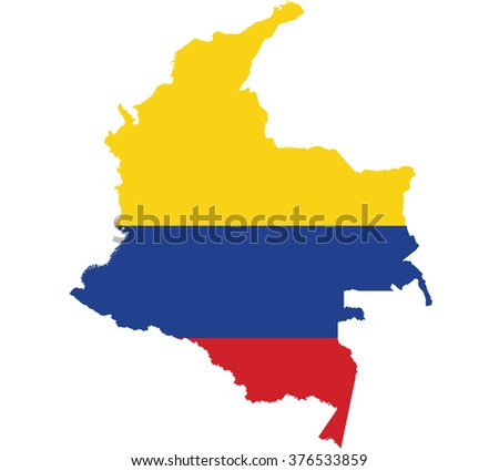 Flag map of Colombia