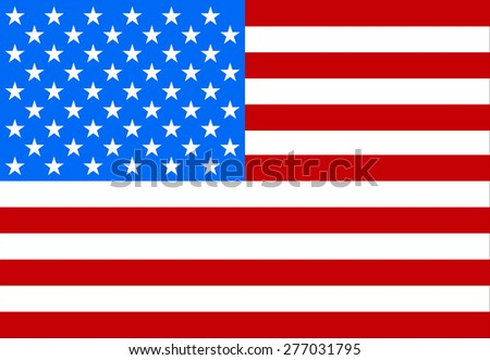 Flag of America to memorial day - stock vector