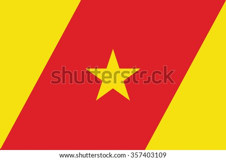 Flag of Amhara ethnically based regional state of Ethiopia. Vector illustration. - stock vector