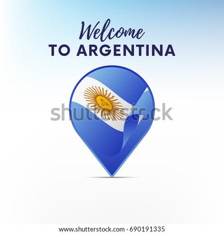 Argentina Stock Vectors Images Vector Art Shutterstock - Argentina map shape