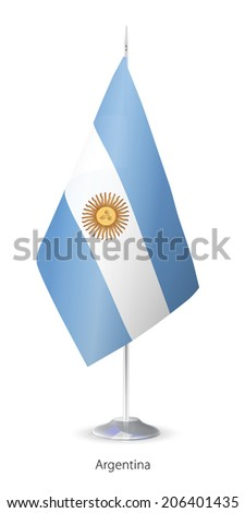 Flag of Argentina. Vector Flagstaff. - stock vector