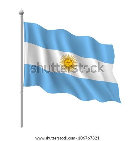 Flag of Argentina, vector illustration - stock vector