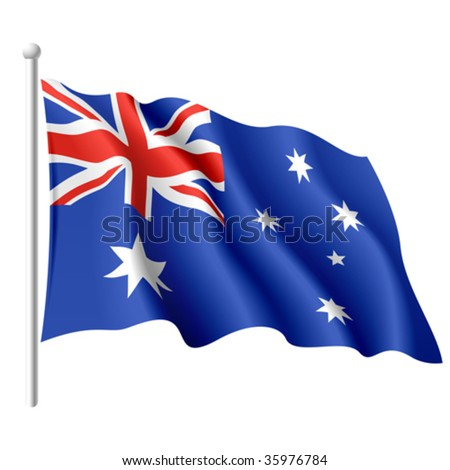 Flag of Australia. Vector.