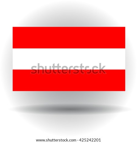 Flag of Austria gray background - stock vector