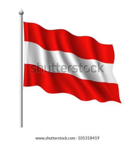 Flag of Austria, vector illustration - stock vector