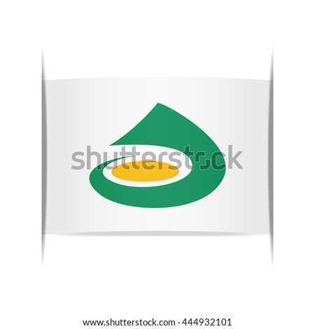 Flag of Awara (Fukui Prefecture, Japan). Vector illustration of a stylized flag. The slit in the paper with shadows. Element for infographics.