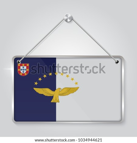 Flag Azores Symbol State Pennant Hanging Stock Vector (2018 ...