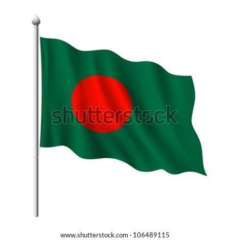 Flag of Bangladesh, vector illustration - stock vector