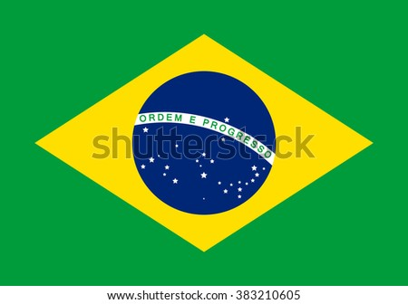 Flag of Brazil - stock vector