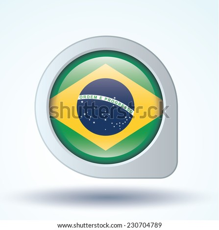 Flag of Brazil, vector illustration - stock vector