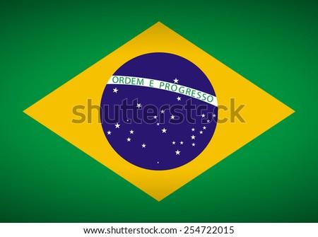 Flag of Brazil. Vector illustration. - stock vector