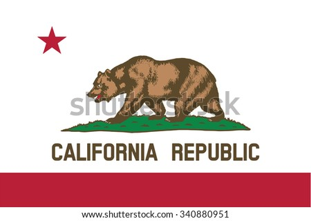Flag of California state of the United States. Vector illustration. - stock vector